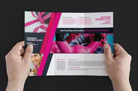 Gym Brochure Templates Free Gym Fitness Trifold Brochure Template For Photoshop Illustrator 3