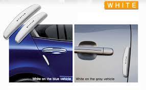 car urethane slim 4pcs door edge guards per protector guard molding white