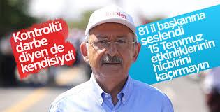 Kemal Kılıçdaroğlu 15 temmuz etkinliklerine çağırdı