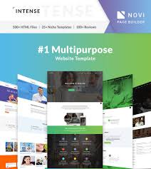Html Website Template Mesmerizing Intense Multipurpose Website Template