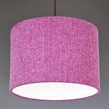 Bright Purple Herringbone Harris Tweed Lampshade