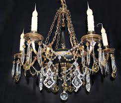 chandeliers lighting breathtaking 25x 27 vintage 6 light spanish brass chain link chandelier amber crystal custom dressed home and living