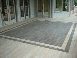 image of front porch tile grey