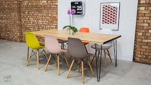 Hairpin dining table Oak Rigguk Oak Hairpin Dining Table