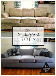 tutorial diy couch reupholster with a canvas drop cloth turn an old worn out couch brand new for less than 75 such a and easy