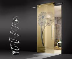contemporary etched glass door panels ideas