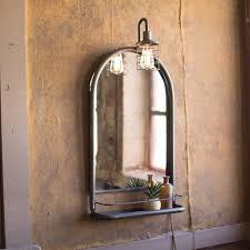 industrial modern lighting. Industrial Modern Mirror Shelf With Lamp Lighting