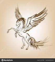 Pegasus греческие мифологические существо концепция легендарный