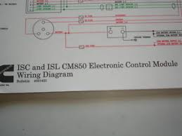 cummins diesel isl isc cm ecm wiring diagram service shop image is loading cummins diesel isl isc cm850 ecm wiring diagram
