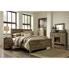 Rustic bedroom furniture sets Barn Door Bedroom Signature Design By Ashley Trinell Collection Panel Bed Set Hayneedle Rustic Southwestern Bedroom Sets Hayneedle