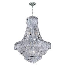worldwide lighting empire 24 in 12 light polished chrome crystal crystal empire chandelier