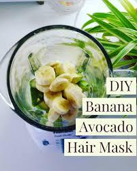 enjoy 3 banana avocado hair mask