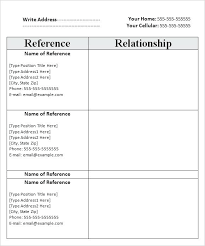 Templates For Reference List Free Reference List Template Reference List Template Free