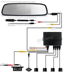 wiring diagram for wireless reversing camera wiring car reverse rear clip on 4 parking sensors radar mirror w backup on wiring diagram for