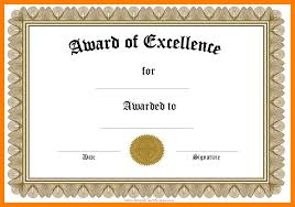 Award Of Excellence Certificate Template 100 awards certificate template word time table chart 40