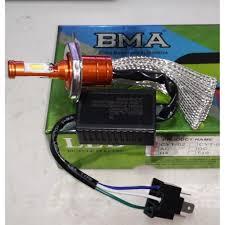 BMA Led - Bóng đèn Led xe máy chân HS1 - Đèn Led chân H4 - 12v Điện máy AC  và Điện bình DC