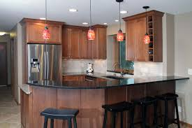 Peninsula Kitchen Cherry Peninsula Kitchen Remodel Menomonee Falls Advantage Remodel