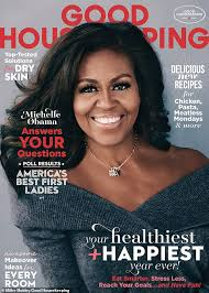 Good Housekeeping Advertising Michelle Obama Flashes A Smile On The Cover Of Good Housekeeping