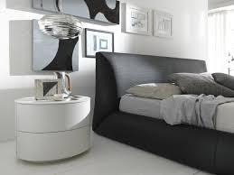 minimalist round white nightstand with storage