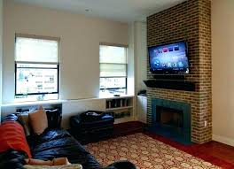 how to mount tv over fireplace pull down for aeon 50300 hanging ideas mono above
