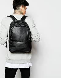 mens small leather backpack