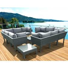 modern outdoor patio furniture. Sectional Dining Set Gray Patio Sets Grey Dark Piece  Furniture . Modern Outdoor