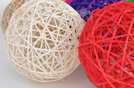 Wicker Balls For Decoration Extraordinary 32CM Rattan Wicker Balls Vase Filler Table Scatter Wedding Christmas