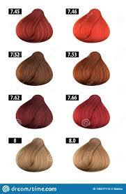 Hair Dye Colours Chart Colour Numbers 8 Stock Photo