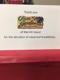 huge thank you to cfa mi and olivegarden merritt island for their donations to our