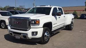 white gmc trucks. Interesting Gmc 2016 GMC Sierra 3500HD Denali Crew Cab 4WD White Oshawa ON Stock 160992   YouTube For Gmc Trucks T