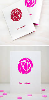 rose shaped valentines card