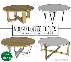 round coffee table diy coffee table