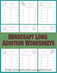 Minecraft Math worksheet   Rainbows   Buttons together with Free Minecraft Worksheets  Long Addition in addition Free Minecraft Math Addition   Subtraction Practice Pack moreover Free Minecraft Printable Resources   Teaching Squared moreover Finding Fractions   Fraction Spotting as well Shape Shed   The Mathematics Shed together with Math Worksheets  Game Boards  Lapbook and more  All Free besides minecraft worksheets   Homeschool Den additionally Short Division Worksheets  create your own for extra practice besides  together with Pre K Worksheets For Handwriting Worksheets for all   Download and. on minecraft math worksheets for 5 year old