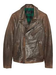 banana republic mens br x kevin love slim leather biker jacket rust brown size xs