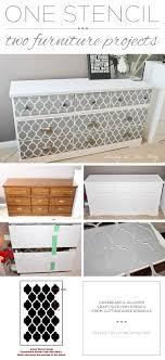 cutting edge furniture. cutting edge furniture a diy stenciled dresser using the casablanca craft stencil from h