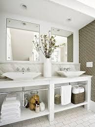 View In Gallery Open Storage Under Vanity Makes This Bathroom Feel More  Spacious Decoist