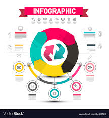 Chart Poster Design Infographic Design With Arrows Data Flow Chart
