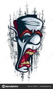 Plačící Klaun Tetování Vektorové Cirkus Joker Neúspěšné Stock