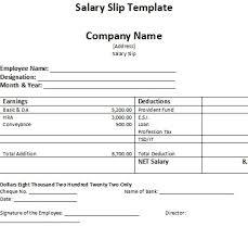 Employee Salary Slip Sample Amazing Salary Slip Template