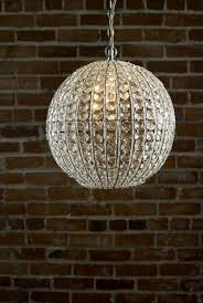 chandelier crystal orb 13 inch als ft wayne in where to throughout sphere chandelier with