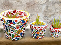 sealing terracotta pots for mosaic designs flower diy home decor best pot vases images on