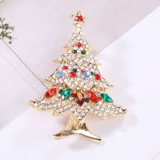 Christmas Brooches With Lights 2019 Women Crystal Christmas Tree Brooches Female Scarf Clip Party Wedding Dress Bouquet Brooch From Lbdfashion 33 57 Dhgate Com
