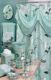Avantie Aqua Shower Curtain With Valance