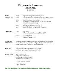 Free Basic Resume Builder Easy Resume Template Word Basic Resume