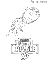 Fortnite Battle Royale Coloring Page Rocket Launcher Alex In 2019