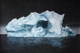 drawing of iceberg by zaria forman pastels