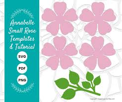 Pattern For Paper Flower Annabelle Paper Rose Template