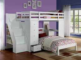 WHITE TWIN LOFT BED \u0026 BOOKCASE LADDER