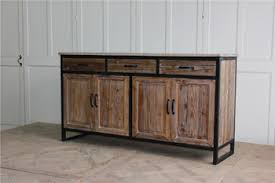 furniture industrial style. Industrial Style Kitchen Furniture Metal Frame Natural Wood Sideboard