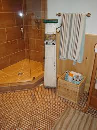 mosaic cork floor bathroom